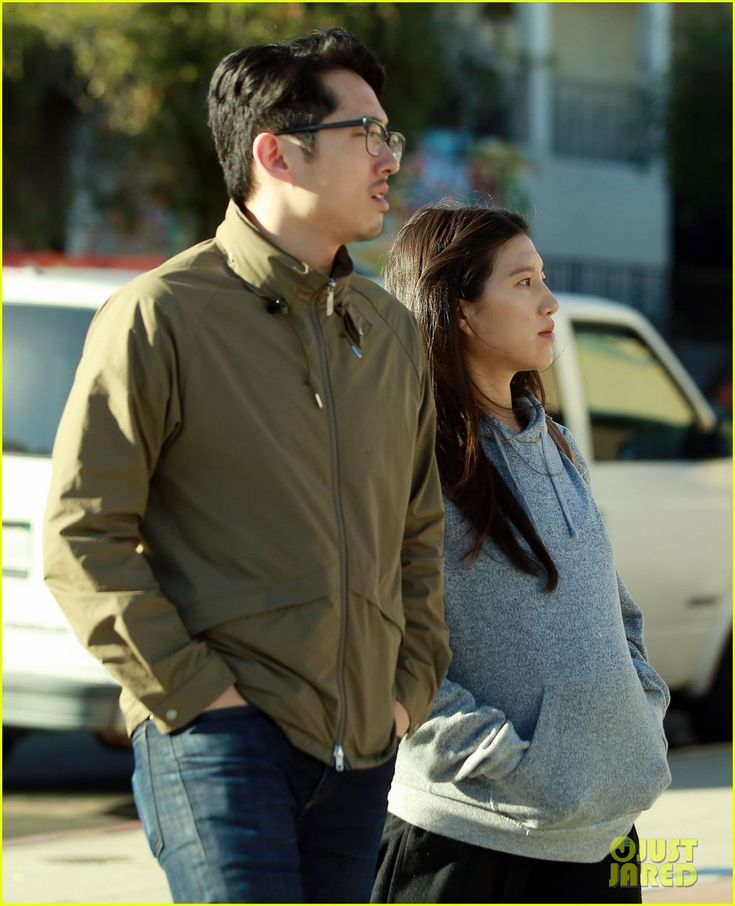 Walking Dead's Steven Yeun Steps Out with Pregnant Wife Joana! | steven yeun steps out with pregnant wife joana 04 - Photo