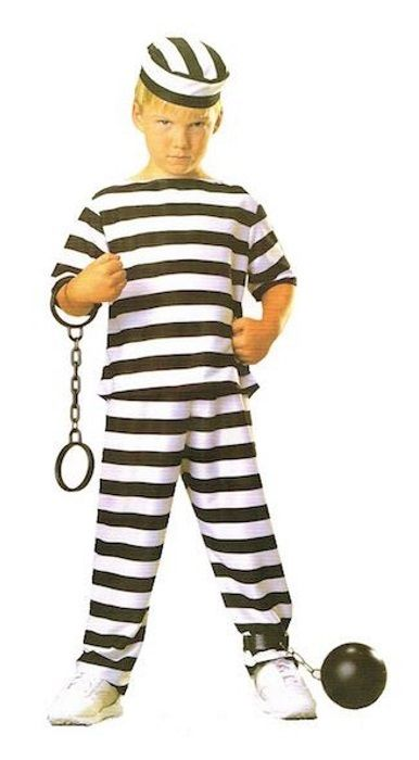 Kids Prisoner Boy Convict Costume Book Week Party - One Size Fits Most - JD…