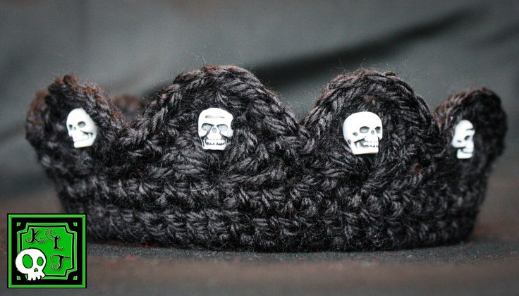 Skull crochet crown Photo Props - by KLTboutique