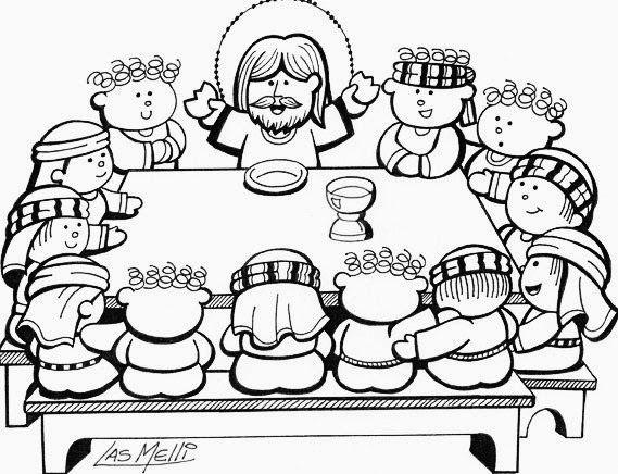 El Rincón de las Melli: DIBUJO: La Última Cena para los más chiquitos
