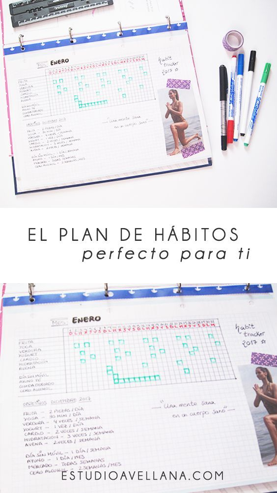 Cómo crear un habit tracker en tu Bullet Journal