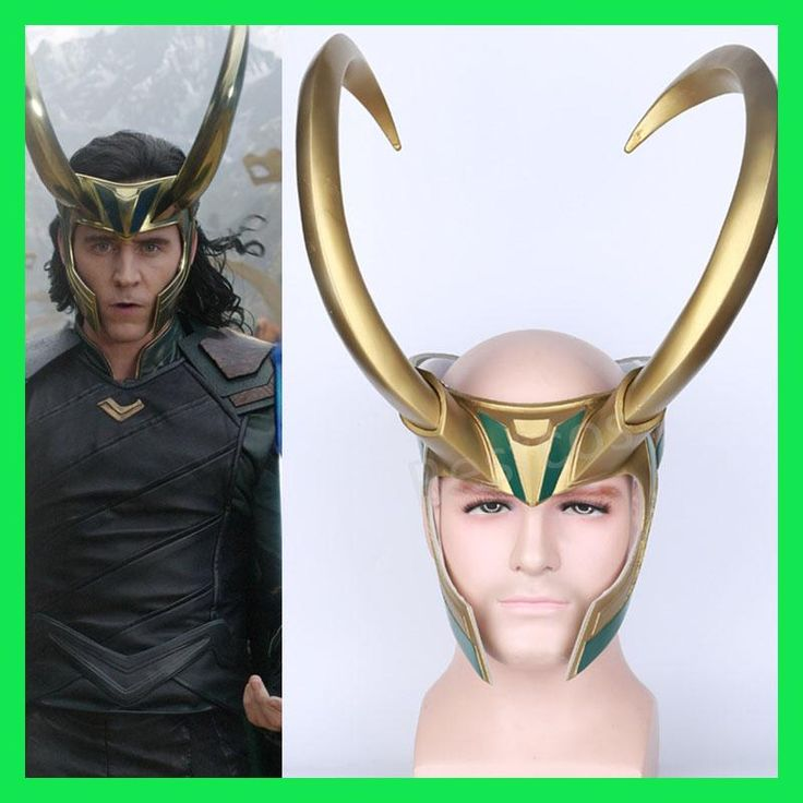 2017 Movie Thor 3 Ragnarok Loki Laufeyson PVC Cosplay Mask Helmet Halloween Props Party Fancy Dress Ball