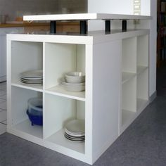 #Kücheninsel aus dem #IKEA #Expeditregal // #kitchen island out of #IKEA's #Expedit #shelf #DIY
