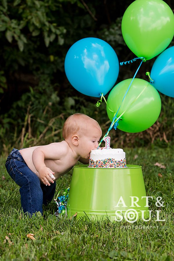 I think this is the cutiest one year old pic I have seen yet!