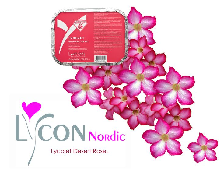 Lycojet Desert Rose - wax that is used for brasilian wax and waxing for smaller areas.