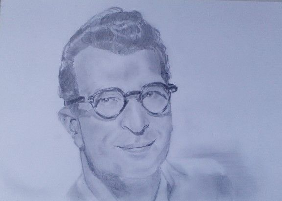 Dave Brubeck-pencil drawing-portrait