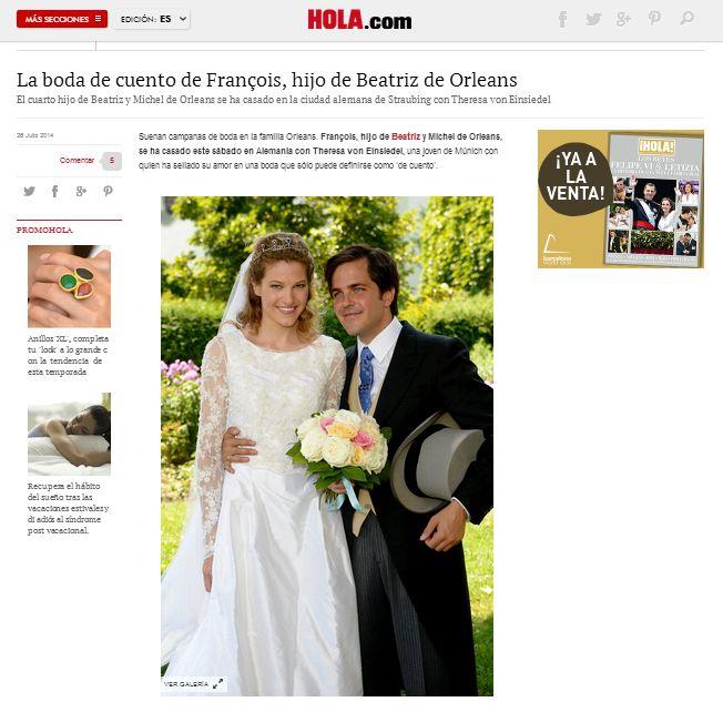 "HOLA Magazine (Spain) online 07.2014 - tie ""Harrison"" - KORNIS"