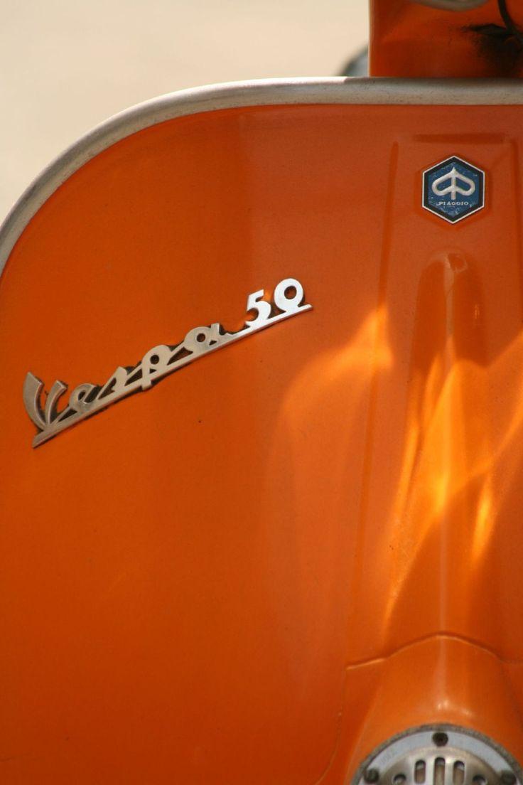 beautiful type, great light. Vespa 50 by Calimano. via Chromeography
