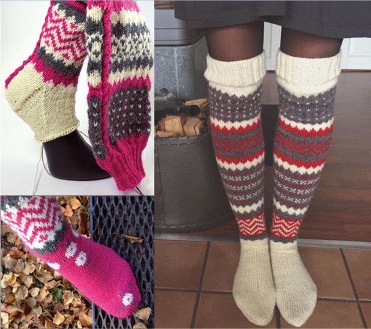 Da Maja og Linda hos Järbo dro i gang en mysteriestrikking med disse sokken i fjor høst tok det helt av, De ble faktisk så populære at de fikk sin egen Facebookside! Sokkene har både mønsterstrikk, flettestrikk og maskestingsbroderi, så de er også litt å bryne seg på. Nå er endelig oppskriften kommet på norsk, og vi har fått lov til å presentere den her.