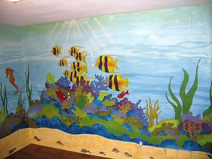 17 best images about under the sea murals on pinterest for Underwater mural ideas