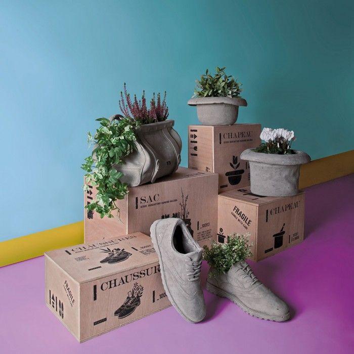 Vaso in cemento Chapeau-Cilindro by Seletti