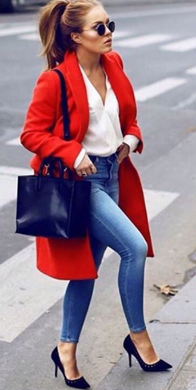 The 25  best Red coats ideas on Pinterest | Red winter coat, Red ...