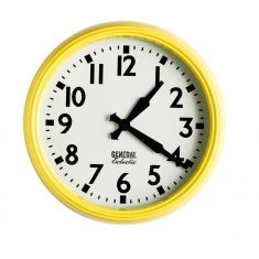 General electric school clocks in yellow
