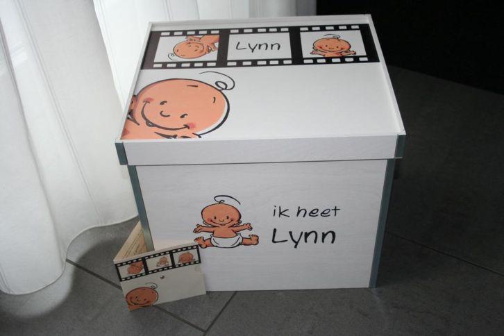 zoekt u een origineel cadeau voor geboorte, doop of een andere gelegenheid? misschien een mooie kist met een handgeschilderde afbeelding van het geboortekaartje