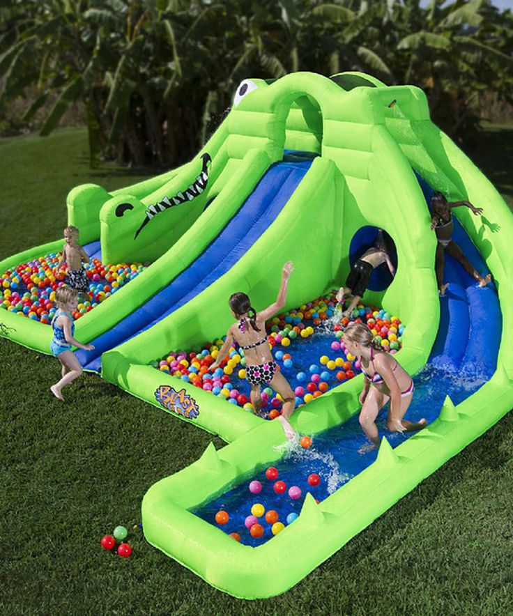 Inflatable Water Slide Toddler: 25+ Unique Inflatable Water Slides Ideas On Pinterest