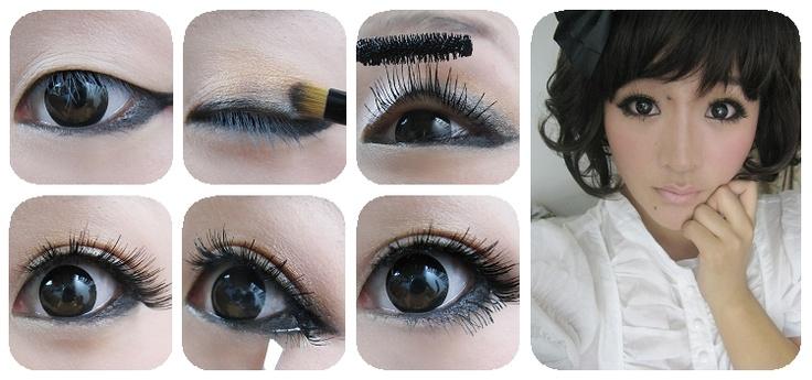 From plain eyes to beautiful eyes