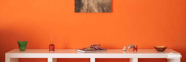 "Color options: Sherwin Williams ""Invigorate SW6886"" or Benjamin Moore ""Tangerine Melt 091"""