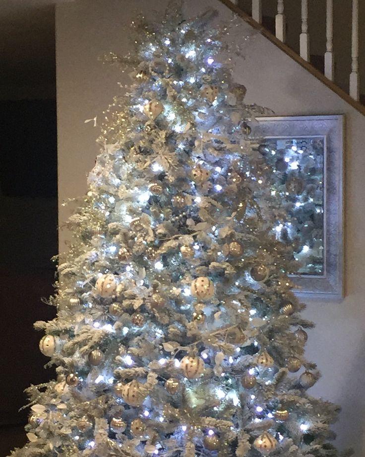 Flocked tree. Flock in a box Xmas diy, Christmas diy