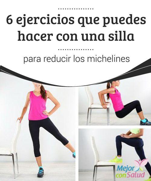 6 ejercicios que puedes hacer con una silla para reducir los michelines  ¿Te quieres deshacer de esos molestos michelines? Te compartimos una sencilla rutina de 6 ejercicios con una silla. ¡No dejes de hacerla en casa!
