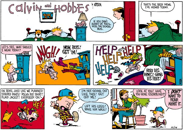 Calvin And Hobbes In Universe Headscratchers Tv Tropes