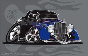 Flame n Hot Greyhound by RobSWD