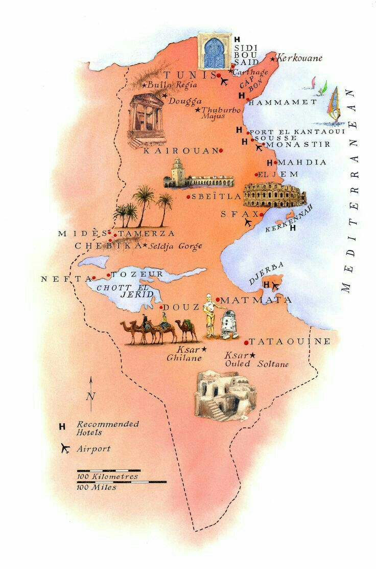 The Best Carthage Map Ideas On Pinterest Carthage Land - Tunisia cities small scale map