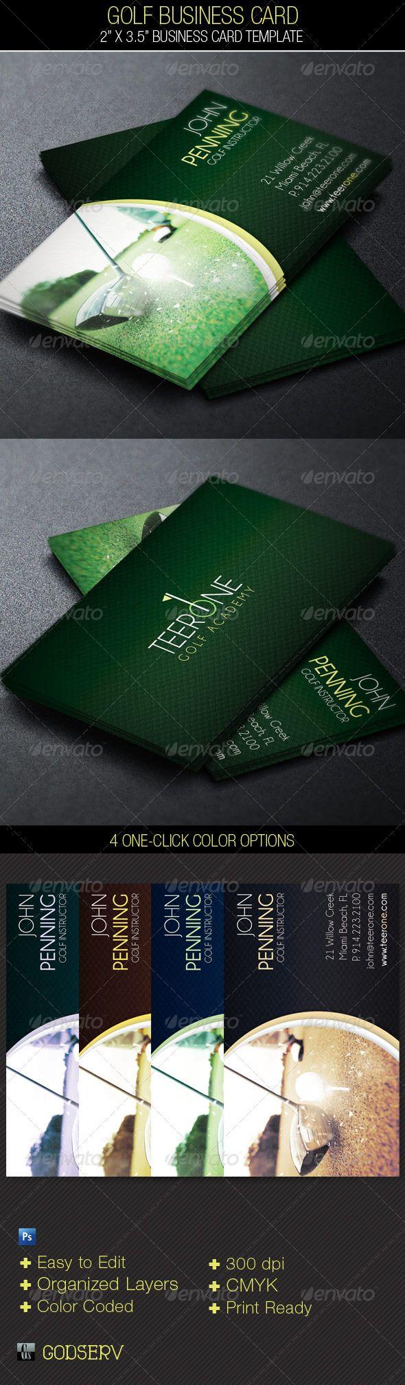Golf Business Card Template - $6.00