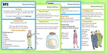 BFG Drama Activities - bfg, drama, activities, activity, giant