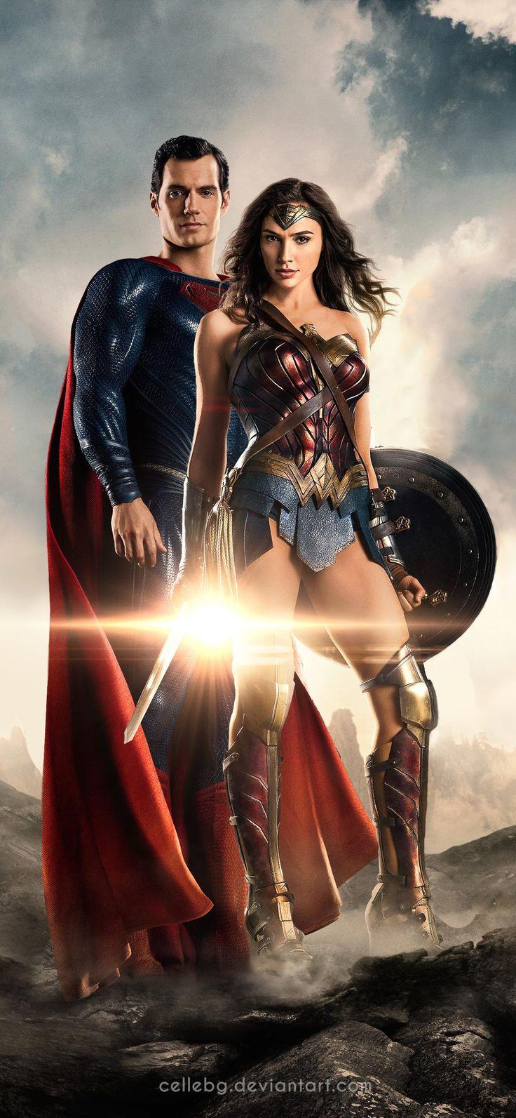 1125x2436 Justice League Superman Wonder Woman 4k Iphone