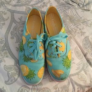 keds Shoes - Ked's Tennis Shoes pineapple design..