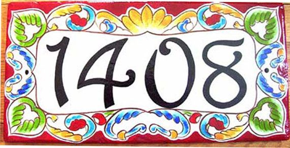 Hand Painted House Number - Milan, available in 6 border colors.Great gift. on Etsy, $139.66 CAD
