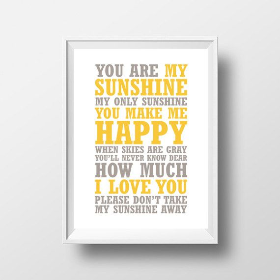You Are My Sunshine Digital Download Print by ButtonsandLaceShop