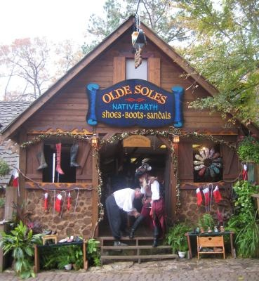 Texas Renaissance Festival - Getting my boots fixed!