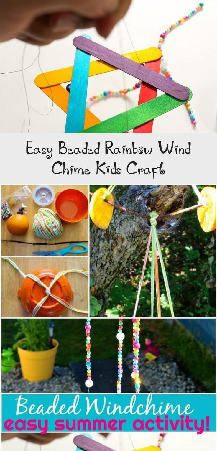 how to make a wind chime craft for kids