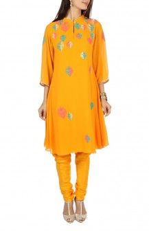 Bright Yellow Salwar By Varun And Nidhika Rs 17050