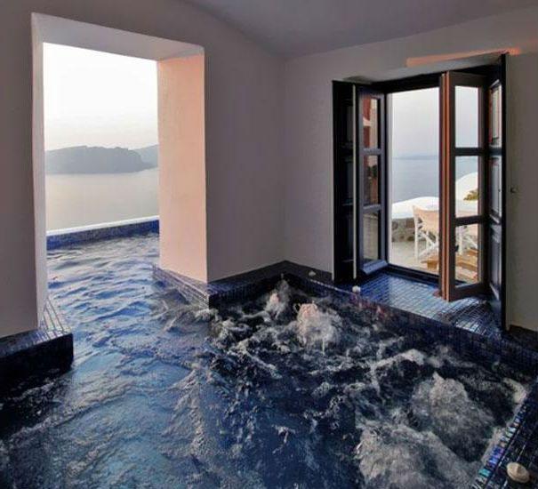 25 Awesome 3D floor design ideas  ideas  Hot tub room