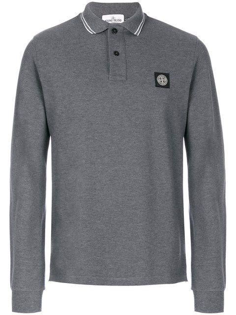 STONE ISLAND longsleeved polo shirt. #stoneisland #cloth #shirt