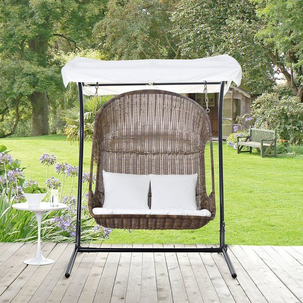 Modway Vintage Swing Chair With Stand Wayfair Patio Swing Outdoor Patio Swing Patio Swing Chair
