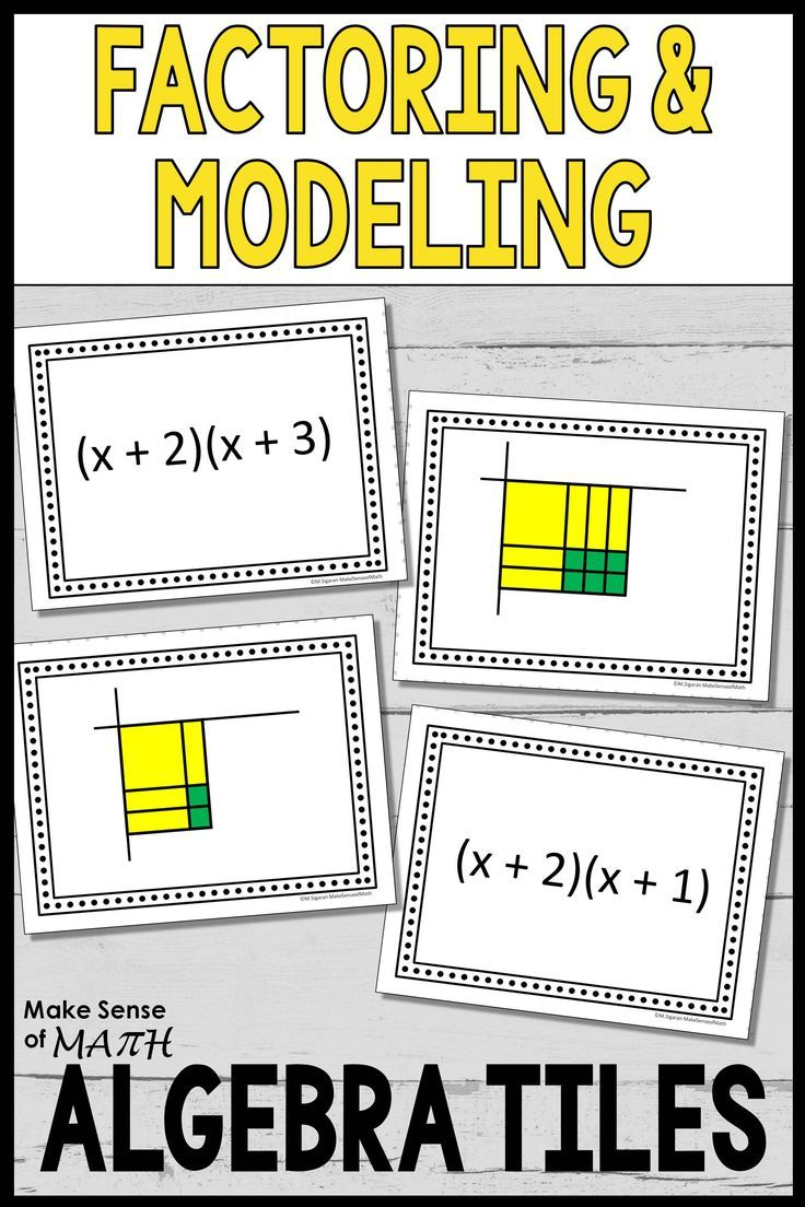 Check out these fun and engaging factoring task cards with algebra tiles.  These can be used for…   Algebra activities [ 1104 x 736 Pixel ]