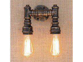 Nástěnné industriální svítidlo 424094 z trubek