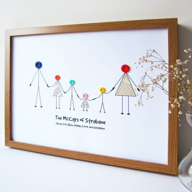 personalised family print by mrs l cards | http://notonthehighstreet.com