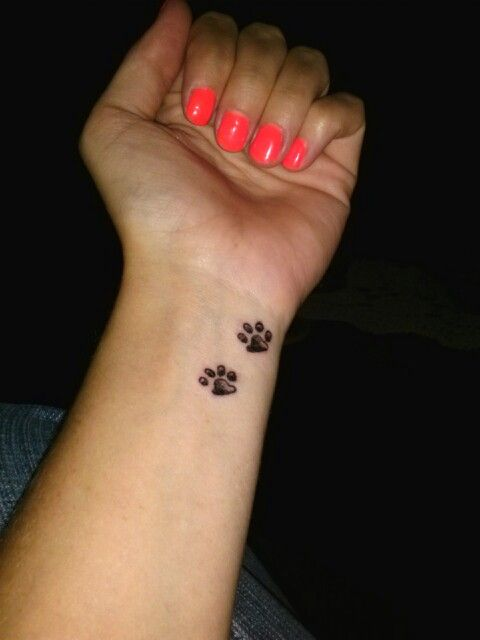 2 puppy paw print tattoo, in loving memory of my little boy