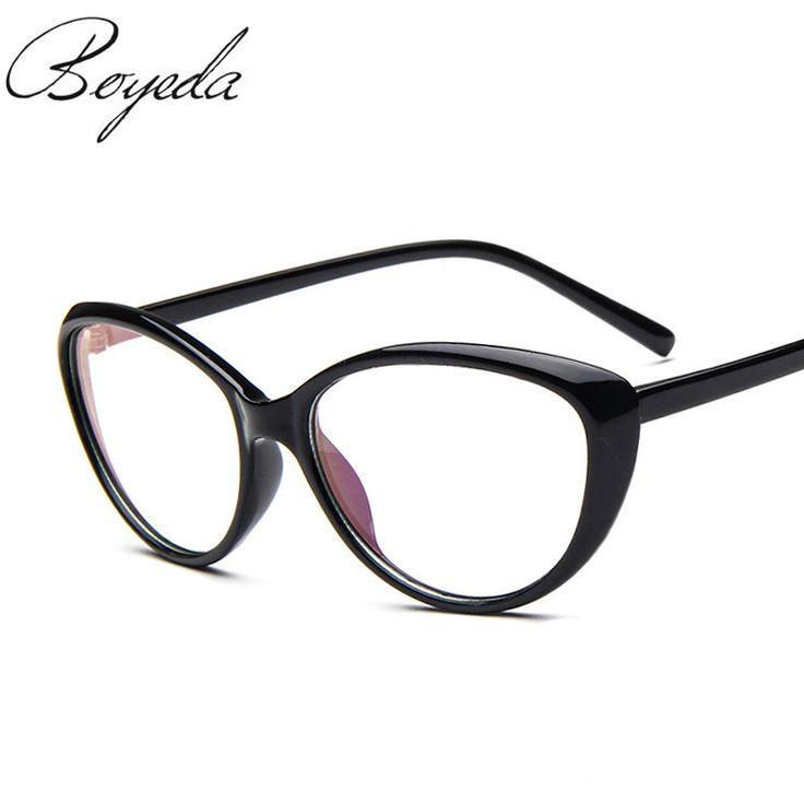 2017 New Women's Fashion Cat Eye Optical Glasses Frame Vintage Women Reading Eyewear Eyeglasses Retro Myopia Eye Glasses Frame