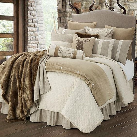 Best 25+ Rustic bedding sets ideas on Pinterest | Log bedroom sets ...