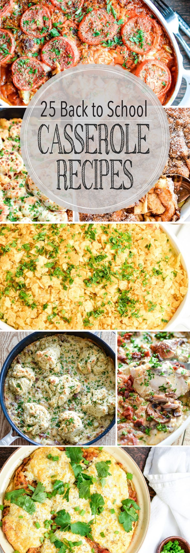 From chicken to french toast and butternut squash to artichokes, here are 25 casseroles you've just gotta try!