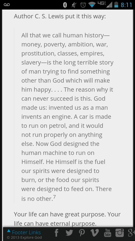 CS Lewis -- from Mere Christianity