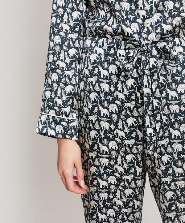 cb47f106045 Midnight Mischief Silk Satin Long Pyjama Set