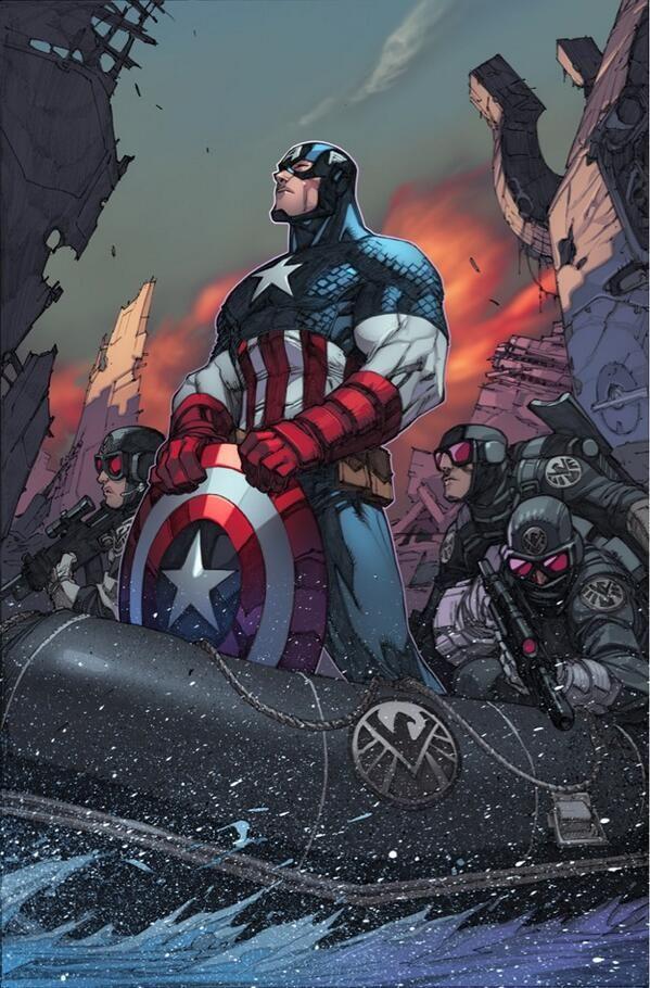 Captain America in Inhuman #2 - Joe Madureira