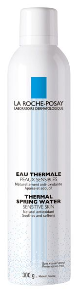 EAU THERMALE, La Roche-Posay. Thermal Water that is. I carry this everywhere. Soothes and refreshes the skin in a matter of seconds