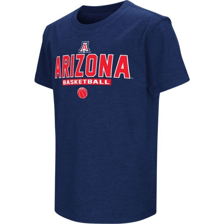Colosseum Athletics Youth Arizona Wildcats Navy Dual-Blend Basketball T-Shirt, Size: Large, Team